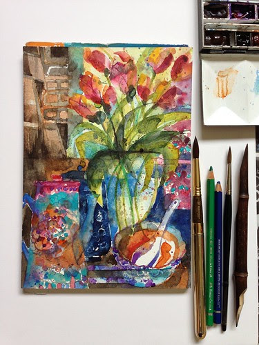 Tulips & tea pot @ True Blue by PaulArtSG