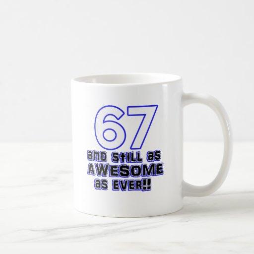 conception de 67 anniversaires mug blanc