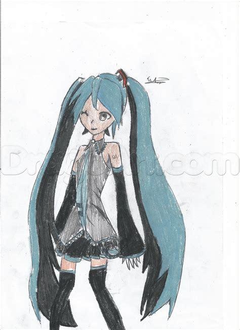 draw hatsune miku step  step anime females anime