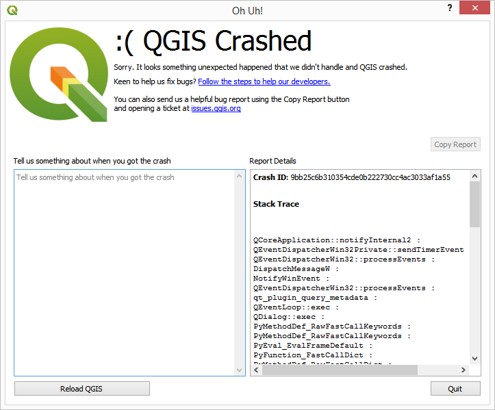 Python script randomly crashes QGIS