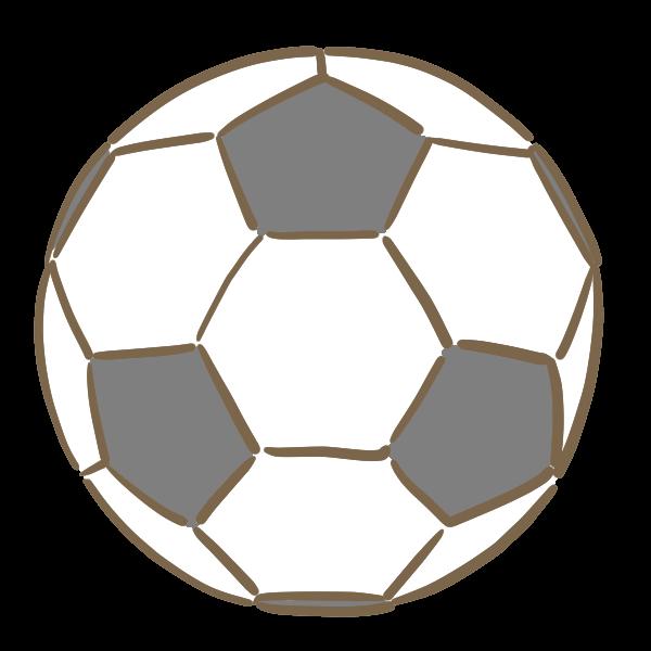 サッカーボールのイラスト かわいいフリー素材が無料のイラストレイン