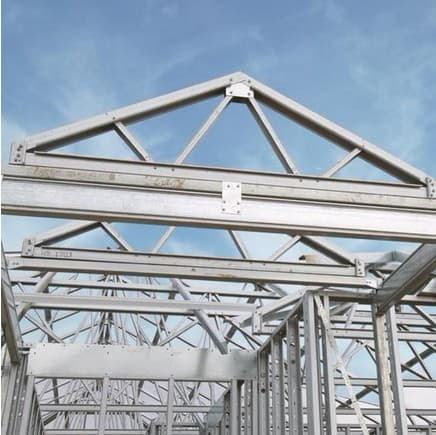 Brick Slips Installation Steel Roof Truss
