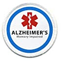 ALZHEIMER'S Memory Impaired Medical Alert 3 inch Patch