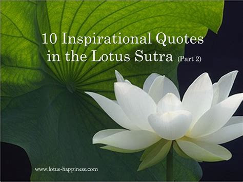 10 Inspirational Quotes in the Lotus Sutra (Part 2