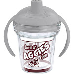 Tervis NCAA Texas A&M Aggies Born A Fan 6 oz Sippy Cup with Lid, Clear