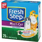 Fresh Step Cat Litter, Unscented, Multi-cat - 25 lb box