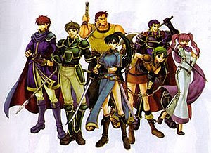 Several characters from the game; left to righ...
