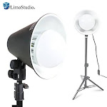 """Limostudio 6.5 Inch Diameter Table Top Continuous Light Head With 28"""" Aluminumlight Stand And 18w Led Lamp Bulb For Table Top Photo Studio Light"""