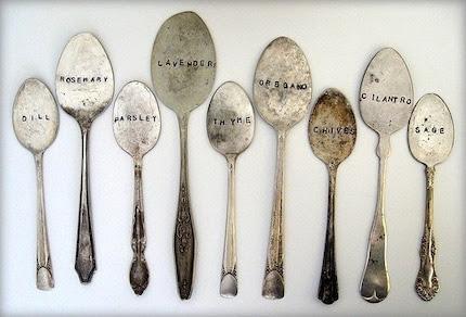 hammermann 9 antique spoon garden markers set