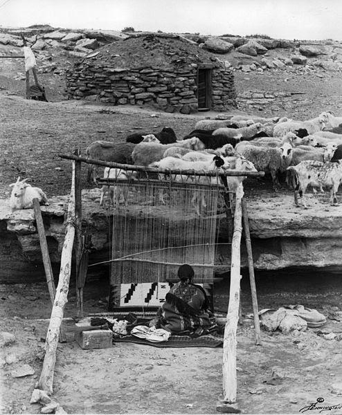 File:Navajo sheep & weaver.jpg