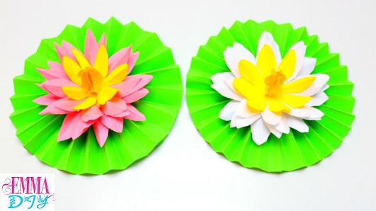 Diy paper lotus flower paper flowers craft ideas emma diy 32 diy paper lotus flower paper flowers craft ideas emma diy 32 mightylinksfo