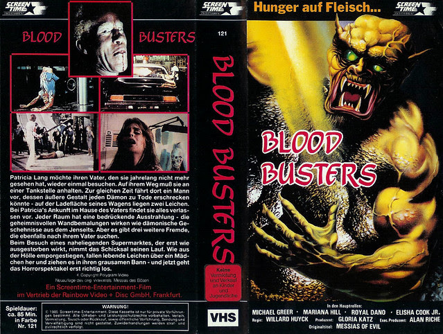 Blood Busters (VHS Box Art)