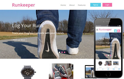 Runkeeper a mobile app Responsive web Template by w3layouts