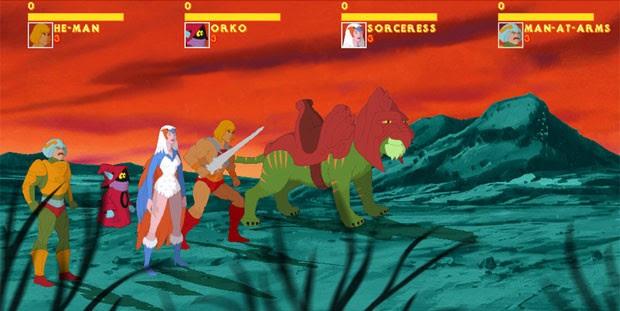 Personagens do game de 'He-Man' (Foto: Divulgação)