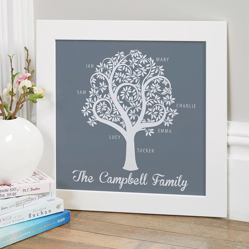 Personalised Family Tree Prints Canvases Chatterbox Walls