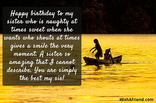 Happy Birthday To My Sister Who Sister Birthday Message