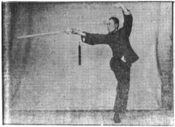 《昆吾劍譜》 李凌霄 (1935) - posture 57