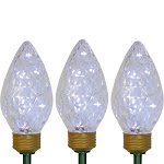 Northlight 3 LED C9 Bulb Christmas Pathway Marker Lawn Stakes - Clear Lights