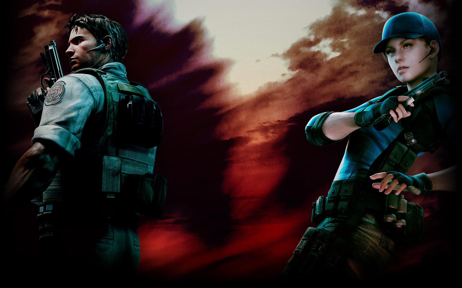 Chris And Jill Resident Evil 5 Wallpaper 40430066 Fanpop