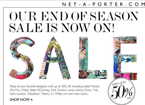 Net-a-Porter Summer 2017 Sale is on! 50% off Designers