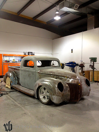 The 40 Ford pickup that Chaotic is preparing for this year's SEMA show.
