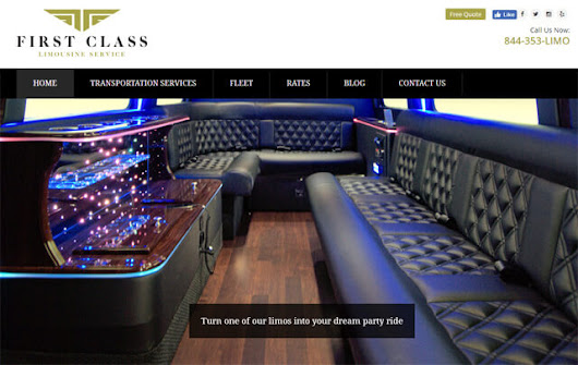 First Class Limousine Service - Internet Solutions For Less