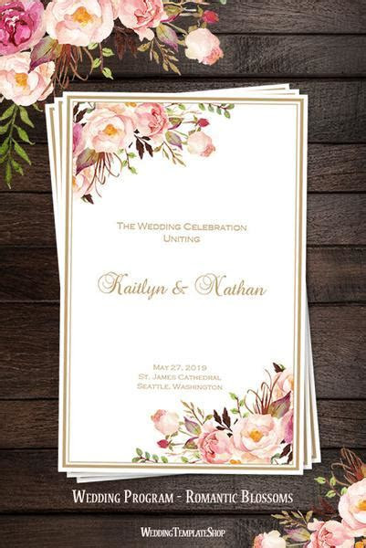 Wedding Program Templates DIY Printable Order of Service