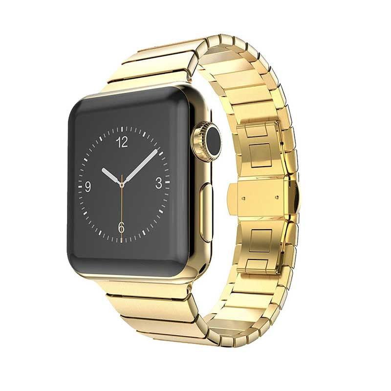 Apple Watch Band, Stainless Steel Link Bracelet w\/ Butterfly Lock  getModern