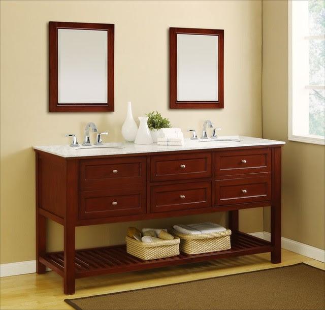 J & J International Double Sink Vanities - traditional - bathroom ...