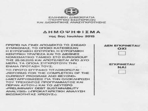 Δημοψήφισμα: Το ψηφοδέλτιο είναι υπερ του `Όχι`! Συνταγματολόγος Μανιτάκης: Μεροληπτική η διατύπωση
