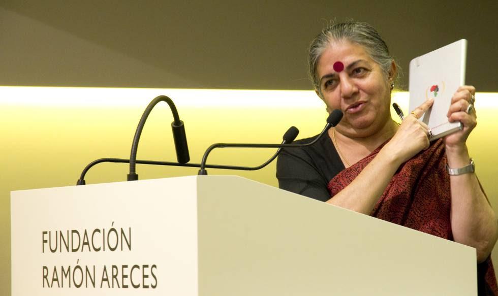 Vadana Shiva, durante su comparecencia en el Encuentro Internacional de Políticas de Desarrollo Views.