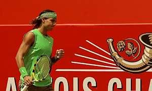 Rafa Nadal celebra un punto. (Foto: EFE)