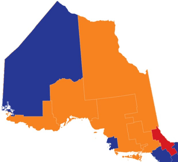 Northern Ontario projections as of Sept. 24