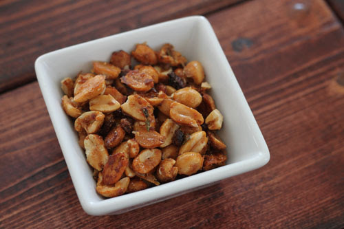 Maple Glazed Peanuts with Bacon