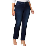 Charter Club Womens Plus Lexigton Denim Classic Straight Jeans Blue 20W