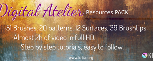 Introducing Digital Atelier: a painterly brush preset pack by Ramon Miranda with tutorial videos! | Krita