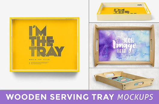 Best Wooden Serving Tray Mockup PSD Files | Resources | Antara's Diary