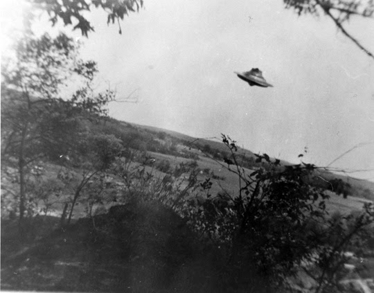 Second UFO photo taken by Harold Trudel in Woonsocket, Rhode Island, June 10th, 1967. (image credit: Harold Trudel, August C. Roberts)