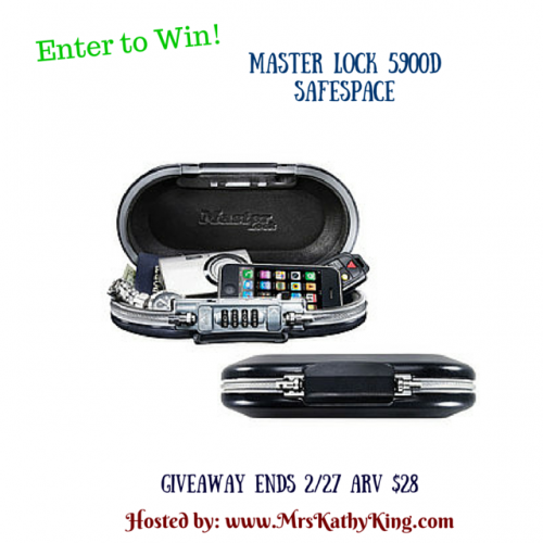 Masterlock 5900D Safespace giveaway ends 2/27
