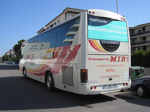 Autocar Iveco de TRANSPORTS MIR de Ripoll (Girona)