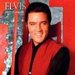 "The Gifted Stationery 2020 12"" Wall Calendar 16-Month, Elvis Presley 50s 60s Singer Icon w/Sticker"