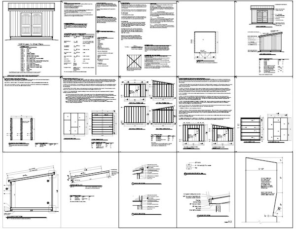 Gable: Shed plans 12x10 free