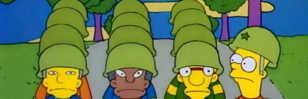 Bart comanda exército escolar nos 'Simpsons' (Foto: Divulgação/Fox)