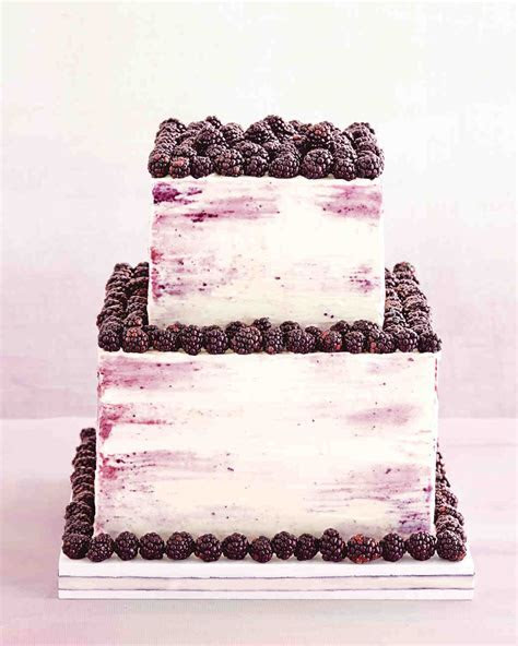 Blackberry Cake with Whipped Cream Filling and Frosting