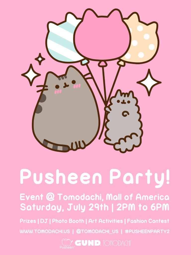 Pusheen Party 2 Poster Design_v121 768x1024