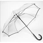 Auto-Open Clear Umbrella Black CL22875
