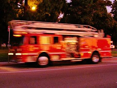 Long Beach, California Fire Department fire en...
