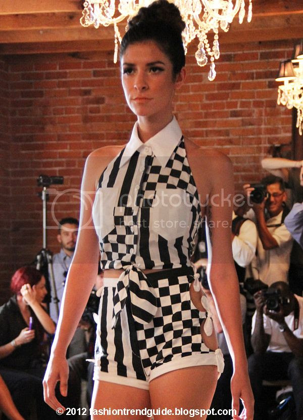 Jen Awad spring 2013 checkered outfit
