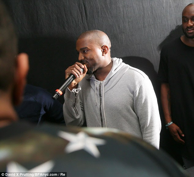 Not public property: Kanye, who hosted a listening party for his new album, Yeezus, on Monday said that the couple's baby belonged to them and not to America