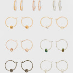 Delicate Open Hoop Earring Set 9ct - Wild Fable , Women's, Size: Small, Multicolored